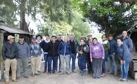 Visita de productores de Cerro Largo a productor en Canelones